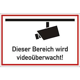 Hinweisschild: Dieser Bereich wird videoüberwacht!