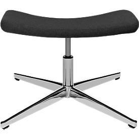 Hocker, für Sitness Lounge Sessel, Sitzfläche drehbar, belastbar bis max. 110 kg, anthrazit
