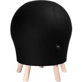 Hocker Sitness Alpine, mit integriertem Gymnastikball, Bezug 75 % Schurwolle