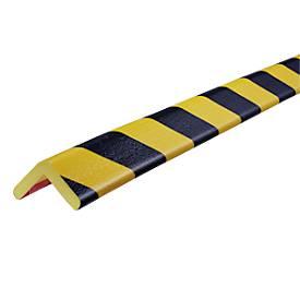 Hoekbeschermingsprofielen type H, 5 m. rol, geel/zwart