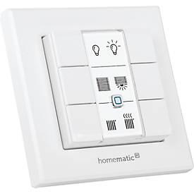 Homematic IP Wandtaster, 6 Tasten, ein- und ausschalten, universell einsetzbar, Smart Home