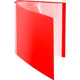 Hoogwaardige PP-showalbums, A4, 30 insteekhoezen, rood