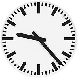 Horloge de gare, avec cadran à bâtons, Ø 500 mm, pour l'intérieur