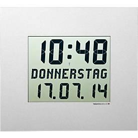 Horloge murale radio pilotée CW 200 M, digitale, 350 x 310 mm