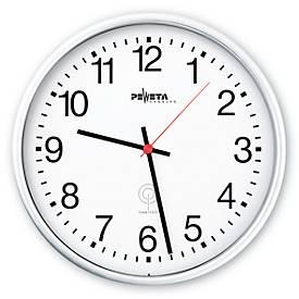 Horloge radio pilotée L'ALTERNATIVE, avec cadran à chiffres, Ø 250 mm