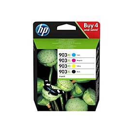 HP 903XL - 4er-Pack - Hohe Ergiebigkeit - Schwarz, Gelb, Cyan, Magenta - Original - Tintenpatrone