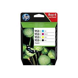 HP 953XL - 4er-Pack - Hohe Ergiebigkeit - Schwarz, Gelb, Cyan, Magenta - Original - Tintenpatrone
