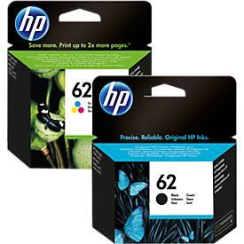HP Cartouche d'encre n° 62, noir + tricolor N9J71AE