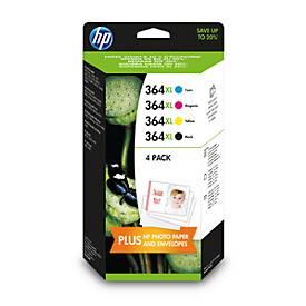 HP Druckpatronen Nr. 364XL SET, schwarz, cyan, magenta, gelb (N9J74AE)
