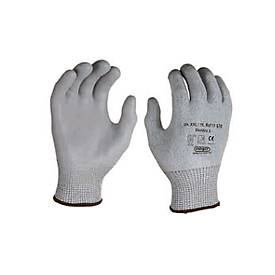 HPPE-Schnittschutz-Strickhandschuh Dondra, mit PU Mikroschaum-Beschichtung, 12 Paar
