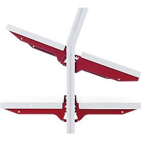 Hüdig+Rocholz Ablageboden System Flex, Typ A, 800 x 300 mm, mit Trägerarmen