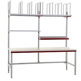 Hüdig+Rocholz Komplettpacktisch Basis System Flex, 2000 mm, 4 Ablageböden