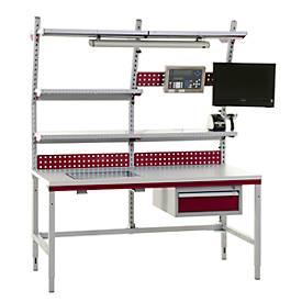 Hüdig+Rocholz Komplettpacktisch Kompakt System Flex, 1600 mm, höhenverstellbar