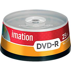 imation DVD-R, 4,7 GB, bis 16fach, 25er-Spindel