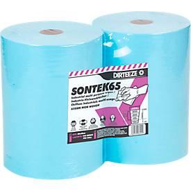 Industrie-Wischtücher SONTEK65, 60 g/m², nass u. trocken nutzbar, saugstark, L 300 x B 500 mm, 2 x 280 St.