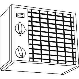 Saebu Industrieheizlüfter CATm 3 j-w für isolierte SAFE Tank Container, 3kW, IP 44, +5° bis +30°C