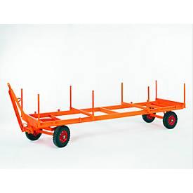 Industriële aanhangwagen, 2-assige draaischamelbesturing, massief rubberen banden, draagvermogen 3000 kg, 4000 x 1050 mm