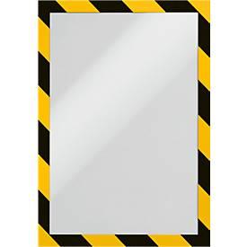 Informationsrahmen DURAFRAME® SECURITY A4, gelb/schwarz, 2 Stück