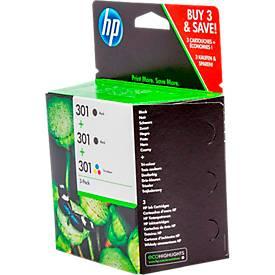 Inktpatroon HP 301, set van 3