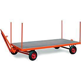 Insteekstangen voor zware industriële aanhangwagens, gemaakt van vierkante buis, 4-delig, voor zware industriële aanhangwagens.