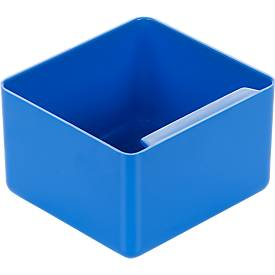 Inzetbakje, polystyrol, l 90 x b 96 x h 60 mm, blauw