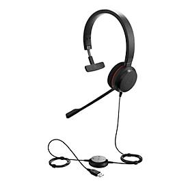 Jabra On-Ear Headset Evolve 20 MS, USB, schuimrubberen oorkussens, mono
