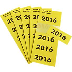 Jahreszahlen-Etiketten 2016, 100 Stück