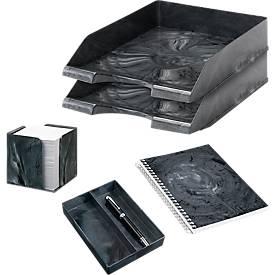 Jalema Schreibtisch-Set Marmor Line, in Marmoroptik, 5-teilig, anthrazit