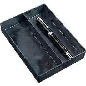 Jalema Stiftablage Marmor Line, mit 2 Fächern, in Marmoroptik, einzeln oder im Set