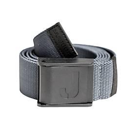 Jobman Strechgürtel mit Plastikschnalle schwarz grau 120cm