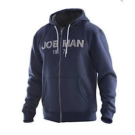 Jobman Vintage Hoodie marine/grau 3XL