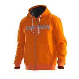 Jobman Vintage Hoodie orange/grau 3XL