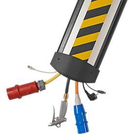 Kabelbrücken B25 EasyLoader Max HD 1500 mm, grau/Deckel gelb/schwarz