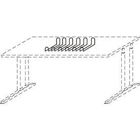 Kabelkorb ALMONDO, flexibel f. Untertisch-Montage, B 800-1000 mm