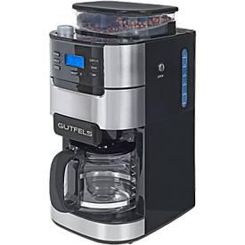Kaffeeautomat KA 8102 swi, mit Mahlwerk, 900 W, 1,5 l, schwarz-silber, B 213 x T 314 x H 430 mm