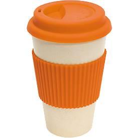Kaffeebecher Eco Cup, aus Bambus, Fassungsvermögen 400 ml, 100 % biologisch abbaubar