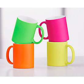 Kaffeebecher Neon, aus Keramik