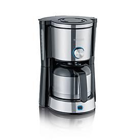 Kaffeemaschine TypeSwitch KA 4845, 1000 W, für bis zu 8 Tassen, 2 Brühmodi, Edelstahlkanne, schwarz-silber
