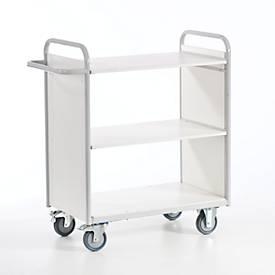 Kantoorwagen met zijwanden, 800 x 500 mm, draagvermogen 150 kg.