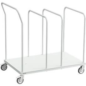 Kartonnen trolley TPB serie, lage uitvoering, 3 verdelers, voor grote dozen