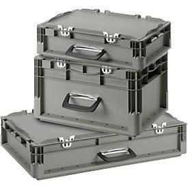 Kasten im EURO-Maß Koffer ELB 4120/4220/6120, SET, mit Deckel, 10,4 l/19,5/22,6 l