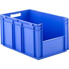 Kasten im EURO-Maß EF 6320, ohne Deckel, ohne Staubklappe, 63,7 l, blau