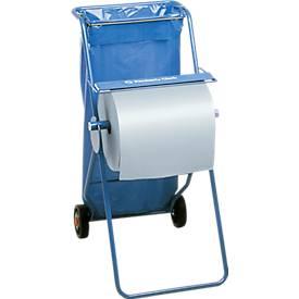 Kimberly-Clark® Système mobile avec dérouleur pour chiffons d'essuyage et porte sac poubelle