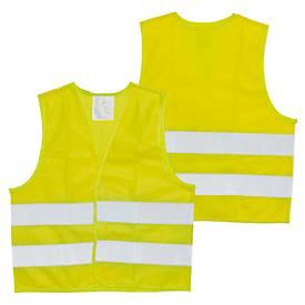 Kinder-Sicherheits-Warnweste, Polyester, 2 Reflektoren, EN ISO 20471:2013 + A1:2016, Werbefläche