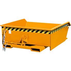 Kippbehälter Bauer Mini Typ MGU 460, niedrige Bauhöhe, 460 l Inhalt, orange