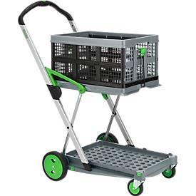 Klapmobiel CLAX® met 46 liter vouwbox, grijs/groen