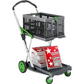 Klappmobil CLAX® inkl. Klappbox, 46 l + Papier Swiss Premium Line A4, GRATIS