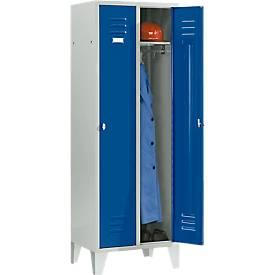Kleiderspind, 2 Türen, mit Füßen, B 600 x H 1800 mm