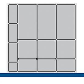 Kleinteileboxen, für Verso-Schränke/Schubladen B 650 mm, 13-teilig