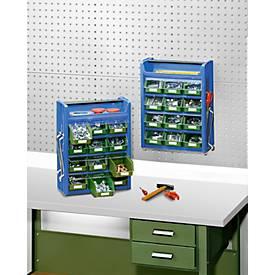 Kleinteilemagazin Porta-Fix PF 5, blau/grün